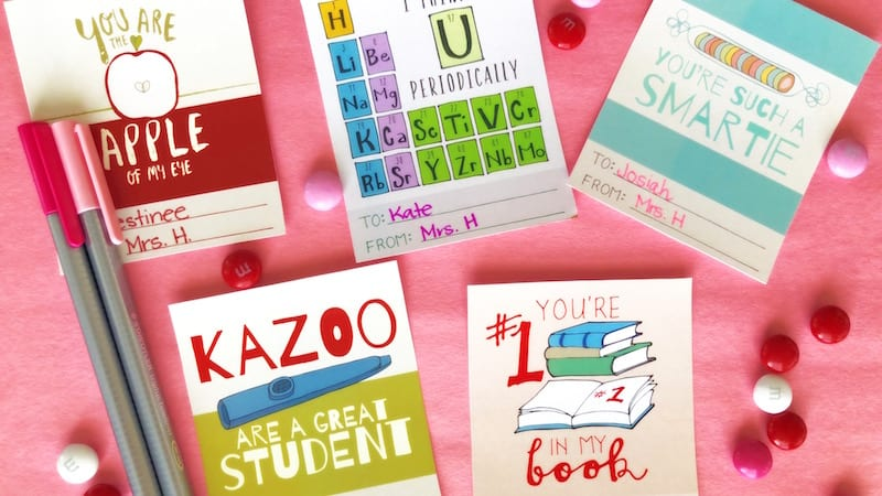 printable valentines for students