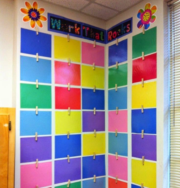 Classroom Hanging Decor ~ How teachers can conquer their cement classroom walls