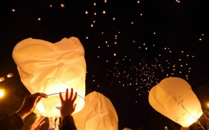 Floating Lanterns by Getty