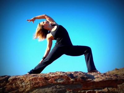 Woman in warrior pose