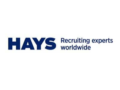 Hays Recruiting experts worldwide - Logo - Blue on a white background