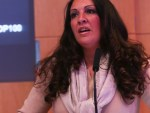 WATC Founder Vanessa Vallely speaking at the Rising Star Awards 2016