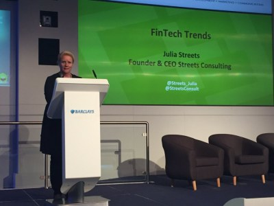 Julia Streets, Founder & CEO of Streets Consulting heads up her Fintech elective session