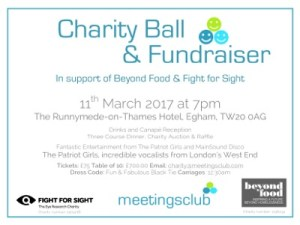 Fight for Sight & Beyond Food | Charity Ball Fundraiser @ The Runnymede-on-Thames Hotel | England | United Kingdom