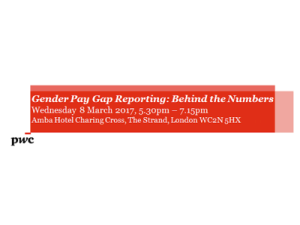 Gender Pay Gap reporting: behind the numbers @ Amba Hotel | England | United Kingdom