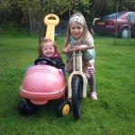 Jaycee & Burberry On The Bike