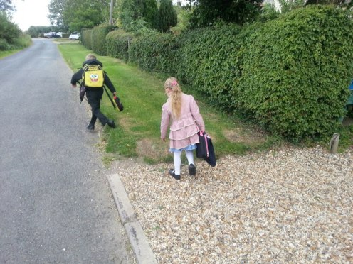 Walking To The Bus