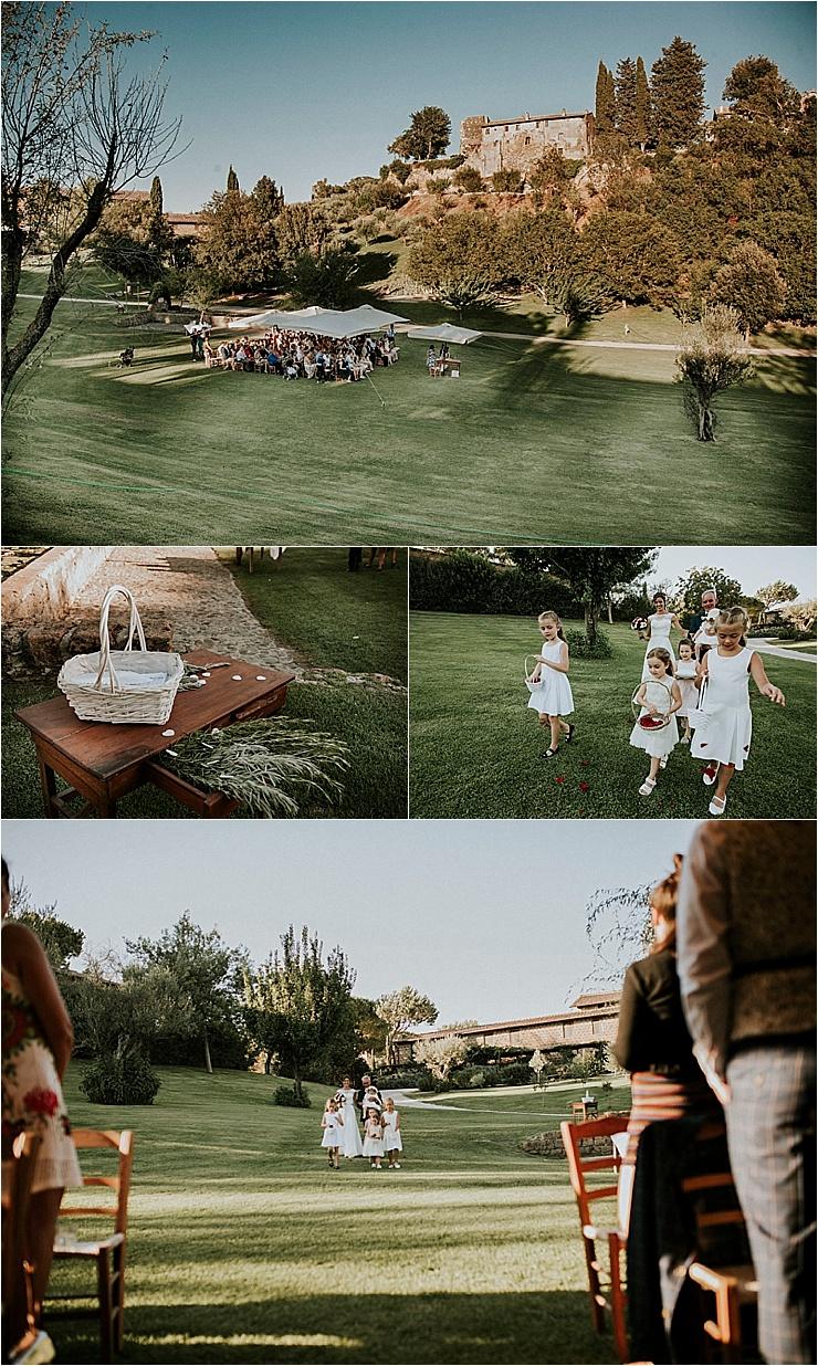 The wedding ceremony begins at Borgo di Tragliata by Michele Abriola