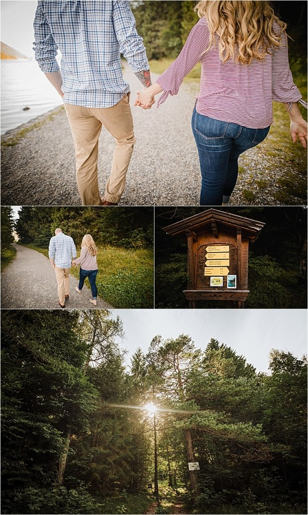 A couple walking around lake Achensee in Austria by Wild Connections Photography
