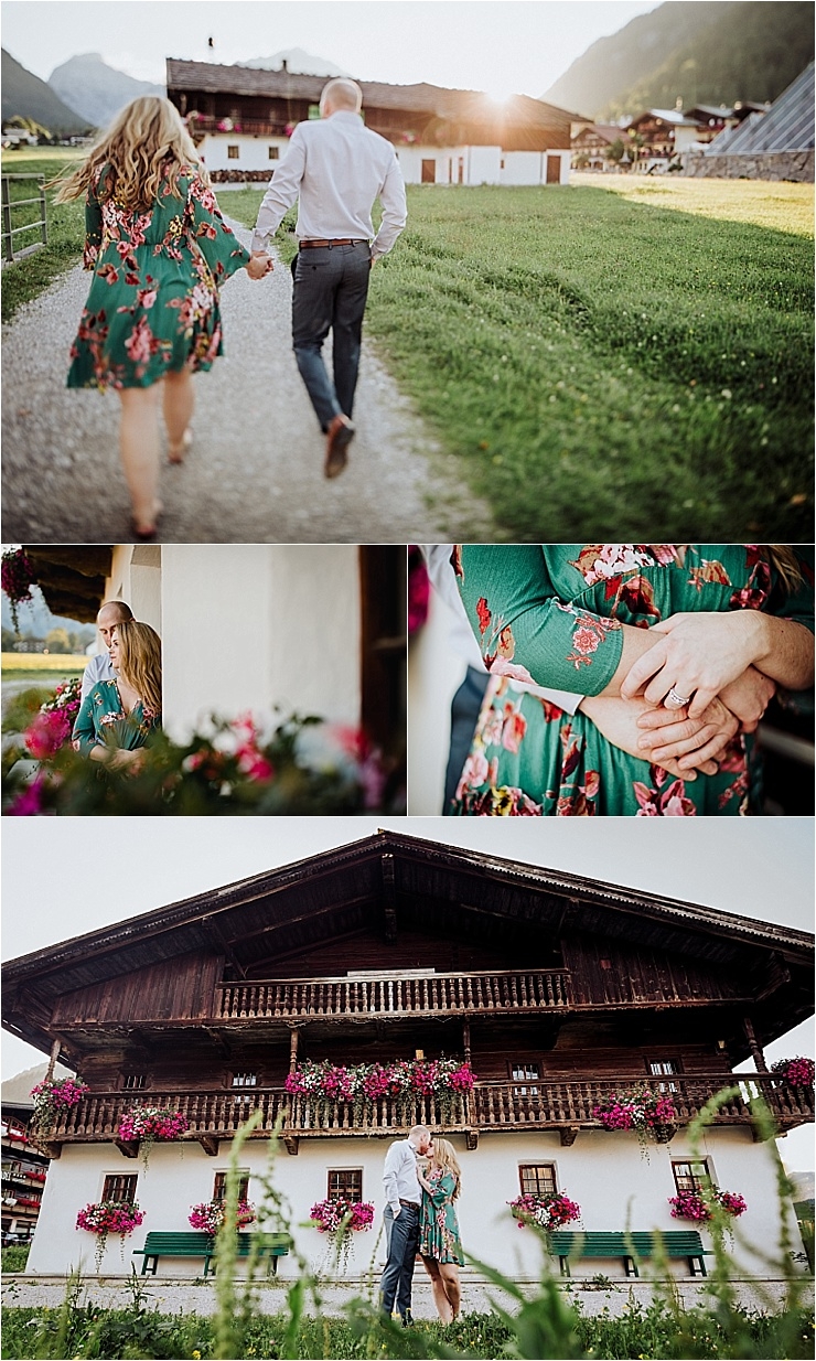 A traditional Austrian farmhouse for this alpine engagement shoot in Austria