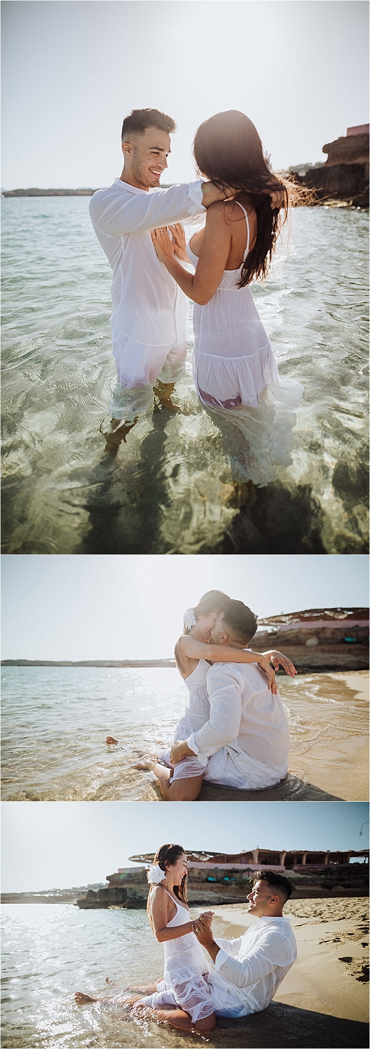 A passionate beach engagement session in Ibiza by Wild Connections Photography