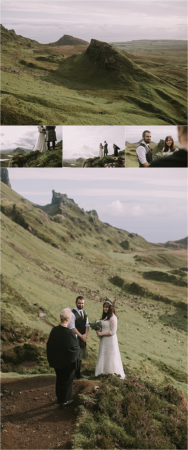 Hillside elopement ceremony on the Isle of Skye by Maureen Du Preez