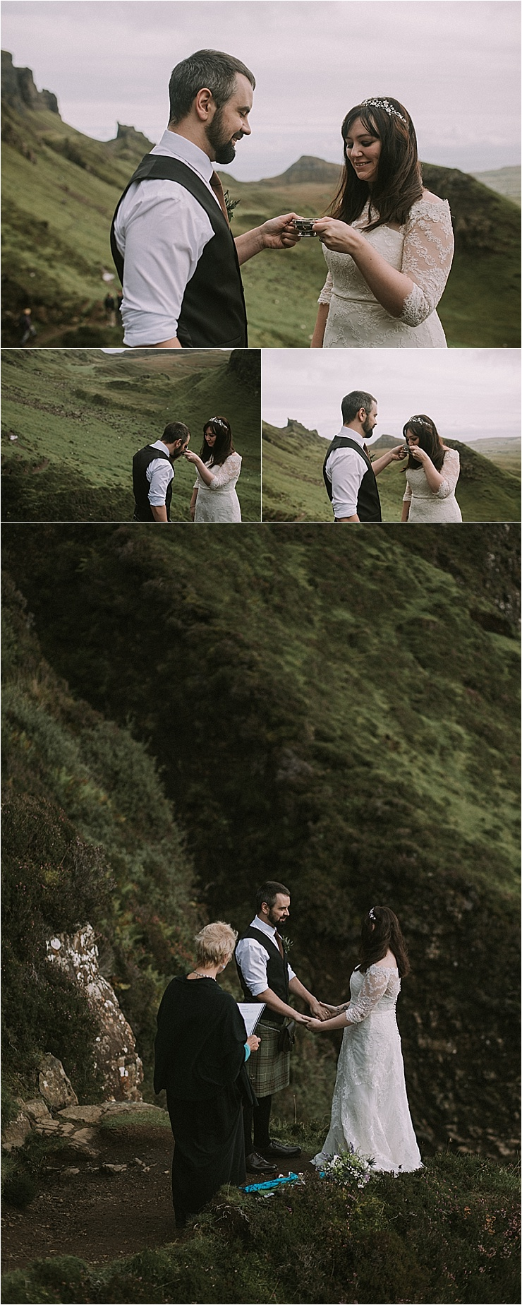 A celebratory toast for their Isle of Skye elopement by Maureen Du Preez