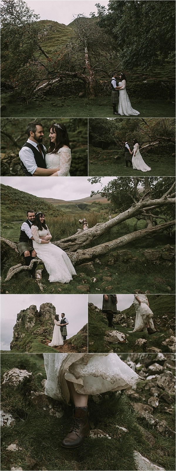 Wedding portraits in an ancient forest on the Isle of Skye by Maureen Du Preez