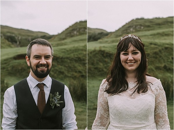 The bride and groom after their emotional Isle of Skye elopement by Maureen Du Preez