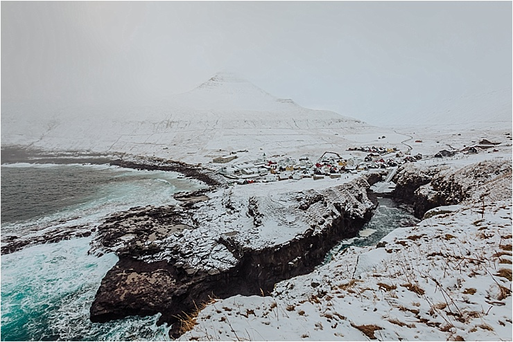 The harbour of Gjogv in the Faroe Islands in winter by We Are The Wanderers