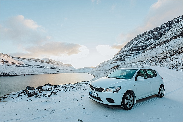 Our Kia Cee'd rental car in the Faroe Islands from Budget