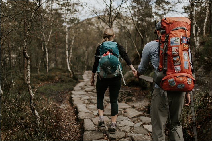 Image of a couple hiking in Norway by Wild Connections Photography