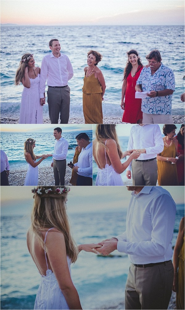 A wedding ceremony at sunset in Croatia by Matija Kljunak Weddings