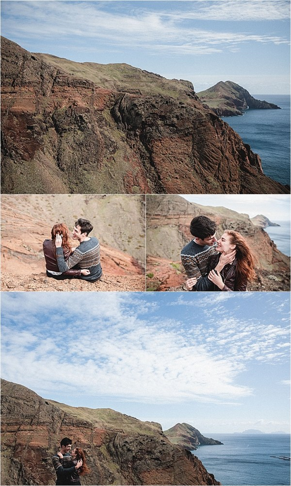 A couple kisses on the clifftops in Madeira by Konstanz-Fotograf