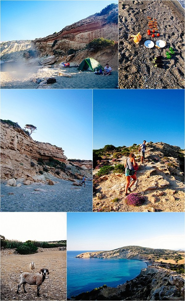 Camping and dinner on a beach on Naxos in Greece by Mister Pretty's Pictures