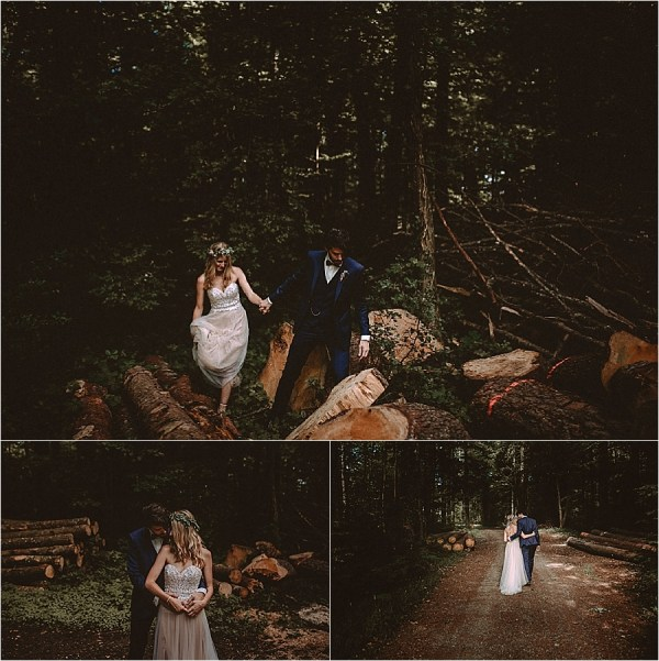 Bride & groom portraits in the forest along the Rhine river in Switzerland by Bring Me Somewhere Nice