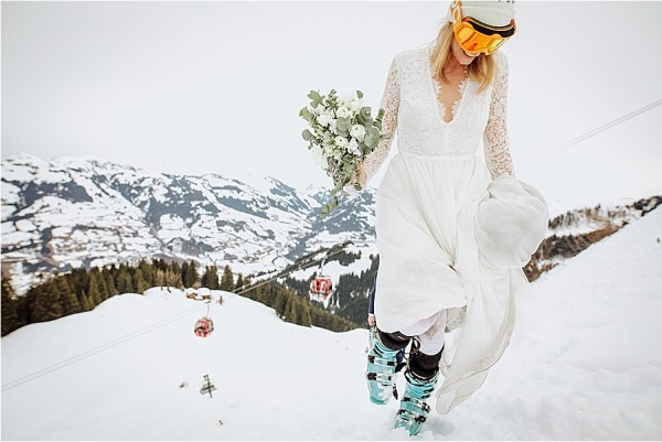 Ski wedding by Wild Connections Photography