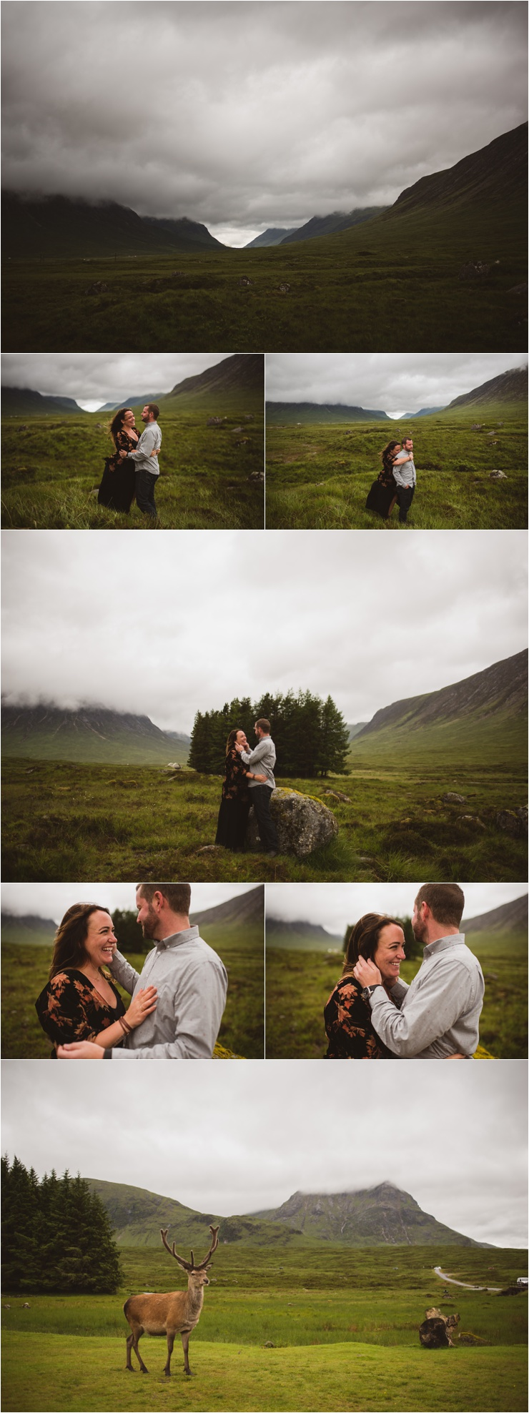 Surprise Proposal in Glen Elvit Scotland by Bridle Photography