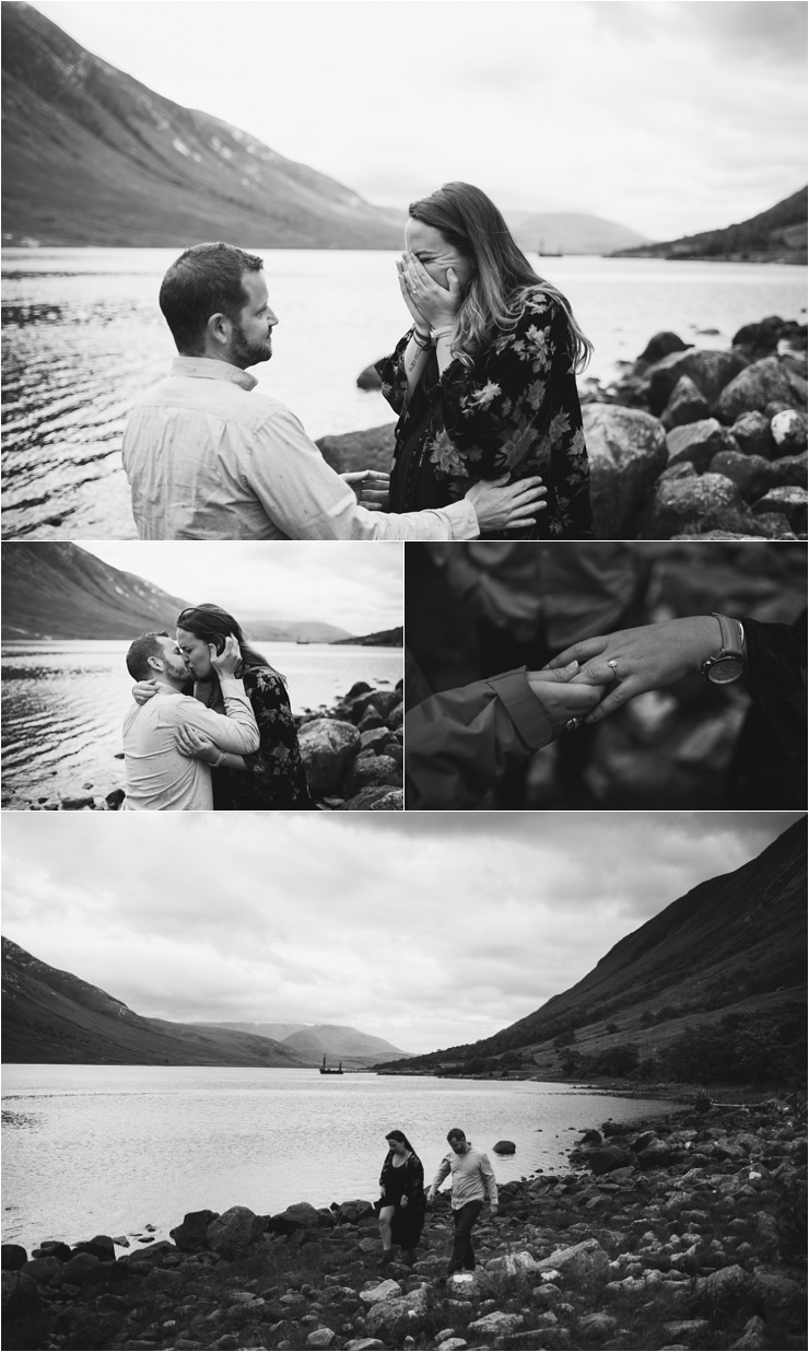 She Said Yes - A Surprise Proposal in Scotland by Bridle Photography