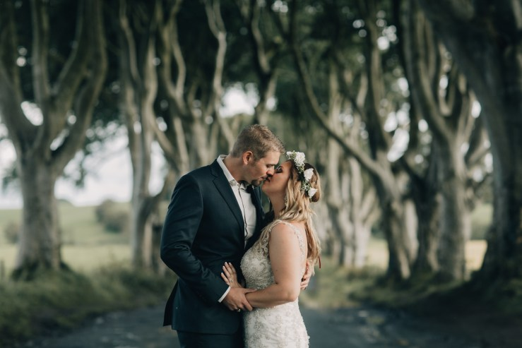 The Dark Hedges Northern Ireland elopement by Paula O'Hara