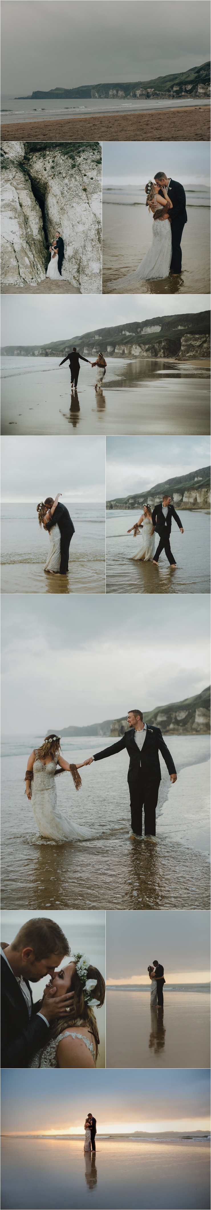 Kristina & Jeffrey elope on a beach in Northern Ireland by Paula O'Hara