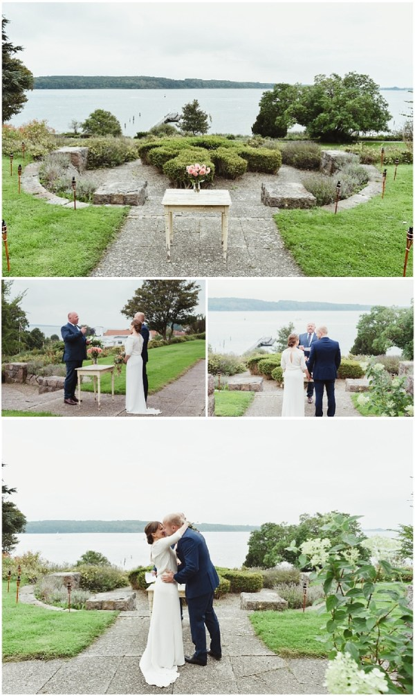A waterfront wedding ceremony in Denmark by Lauren McCormick Photography