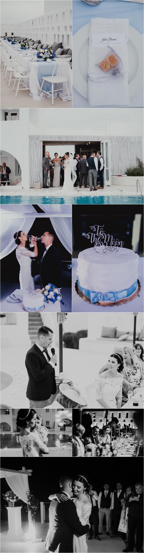A Santorini destination wedding reception by Tara Lilly Photography