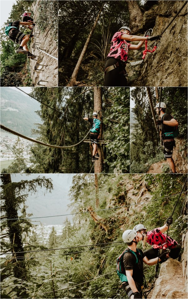 The via ferrata in Mayrhofen Austria by Wild Connections Photography
