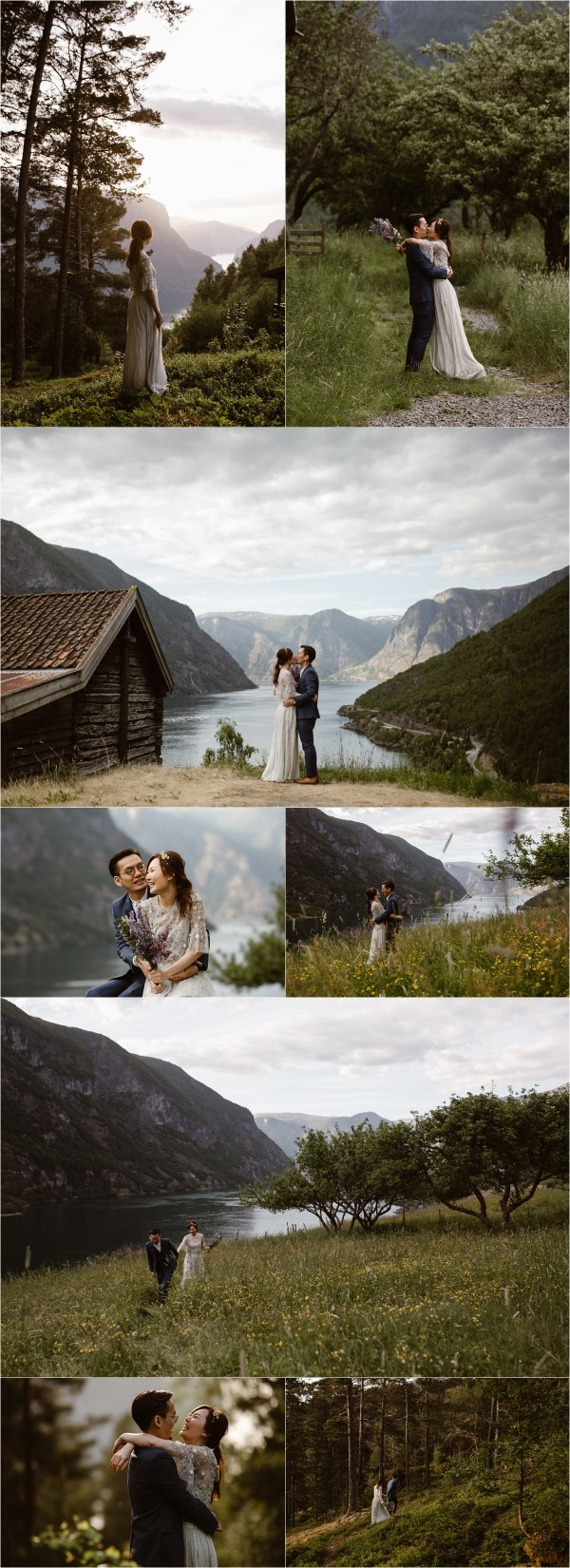 A honeymoon shoot in Sognefjorden Norway by Ingvild Kolnes