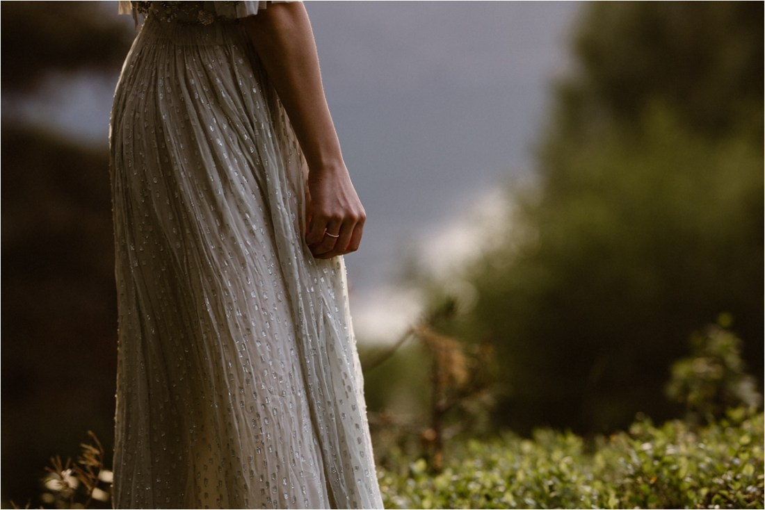 A Needle & Thread dress for a honeymoon shoot in Norway by Ingvild Kolnes