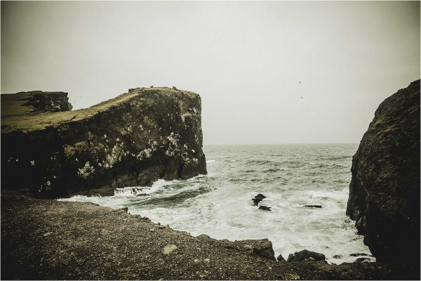 The rugged coastline of the Reykjanes peninsula for a Iceland anniversary shoot by Projectphoto.ch