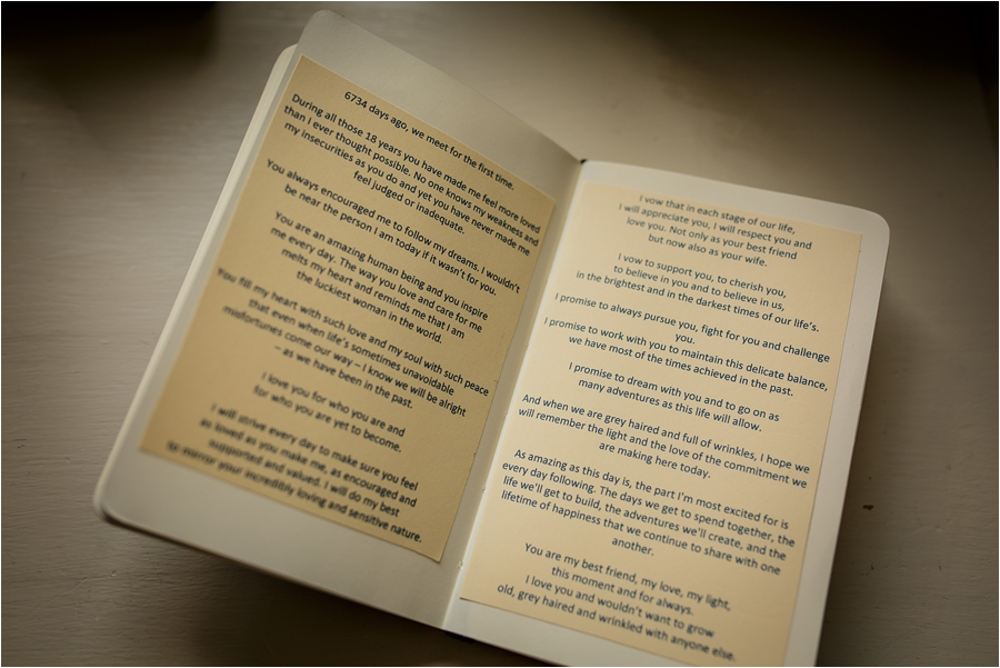 Personal vows in a special book for a Loch Coruisk Elopement On The Isle Of Skye by Lynne Kennedy Photography