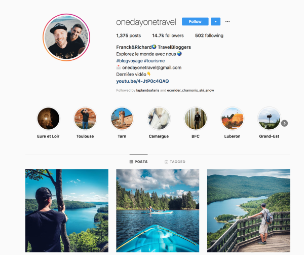 One Day One Travel Instagram Profile