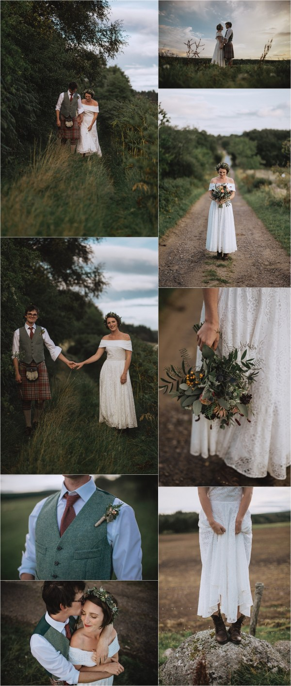A laid back sheep farm wedding in Scotland by Fox & Bear Photography