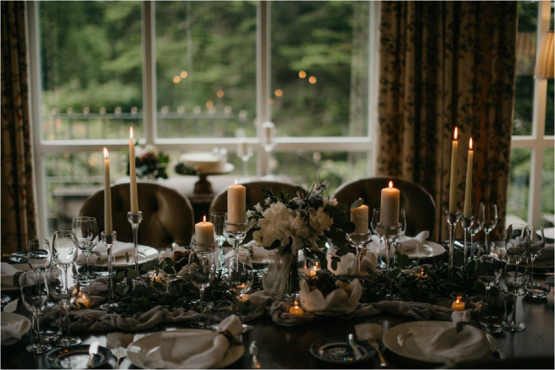 Wedding reception details in County Galway by No Other Love Photography