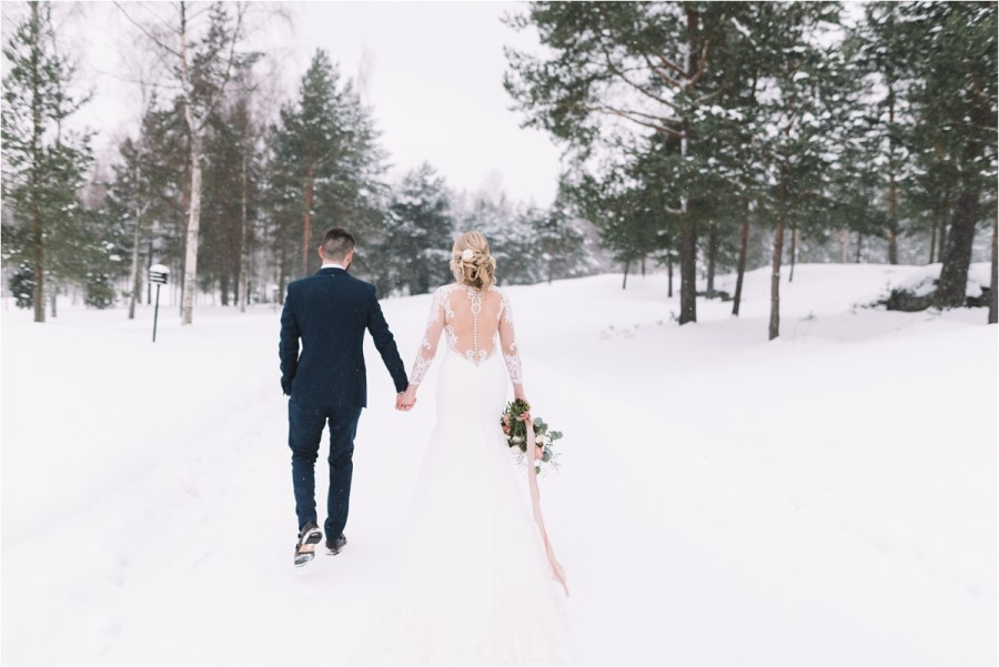 A destination wedding in Finland in the winter by Lucie Watson Photography