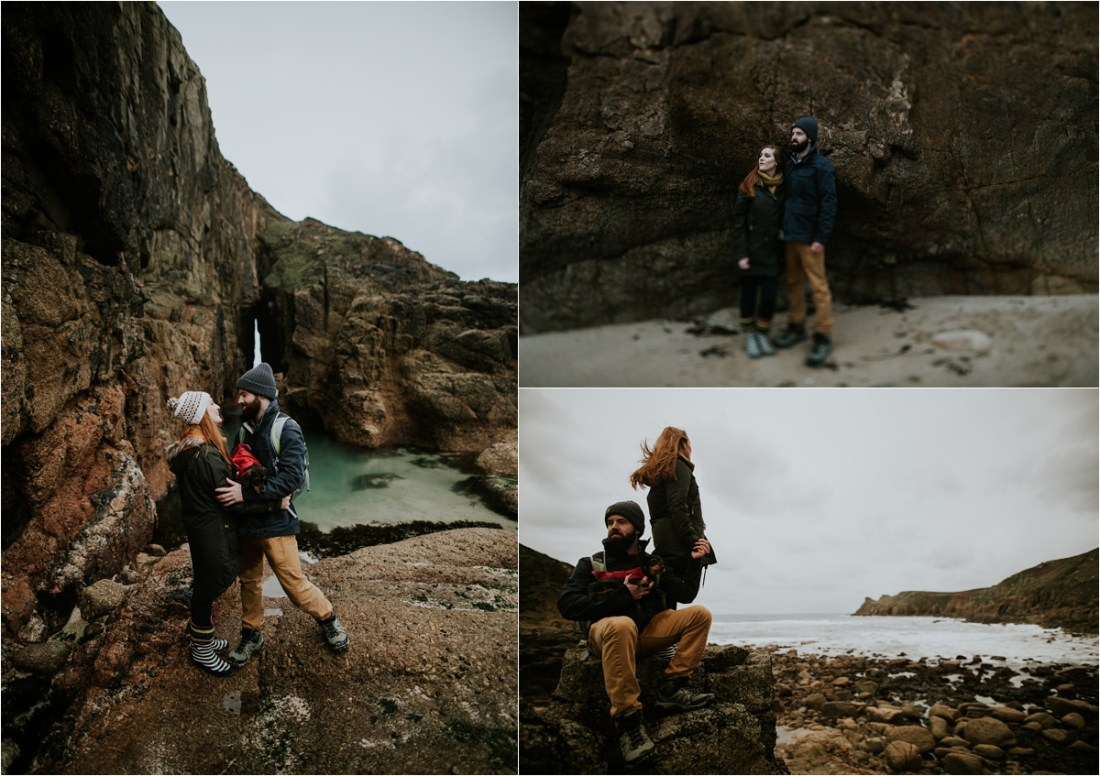 Cornish beach engagement shoot