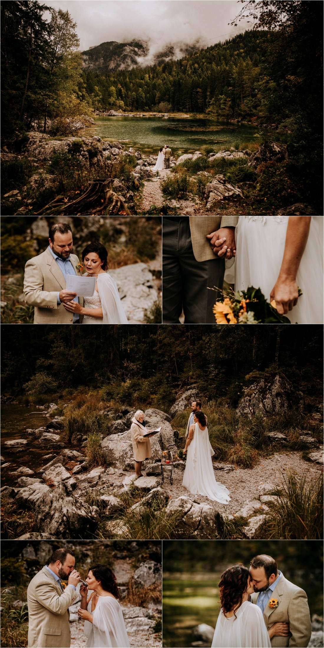 A handfasting ceremony in the Bavarian Alps at Lake Eibsee by In Love With A Wolf