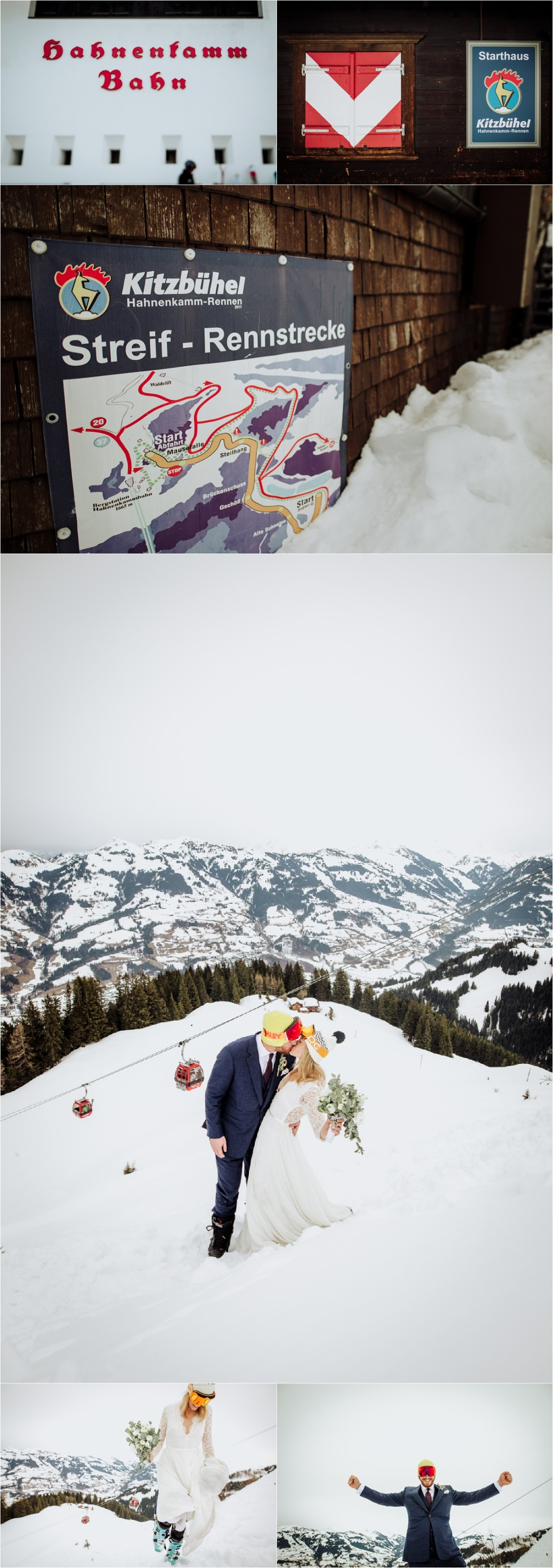 A Kitzbühel ski wedding on the Hahnenkamm by Wild Connections Photography