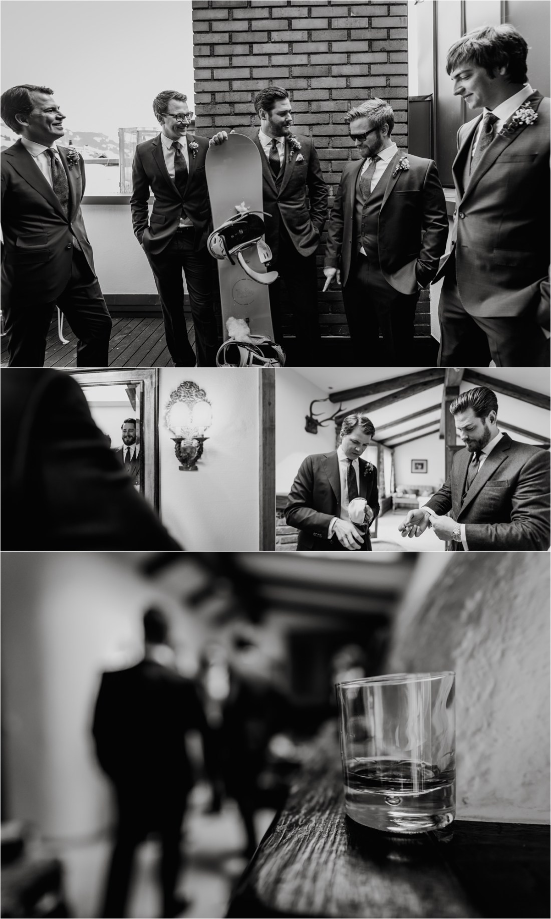 Groom preparation in Kitzbühel Austria by Wild Connections Photography