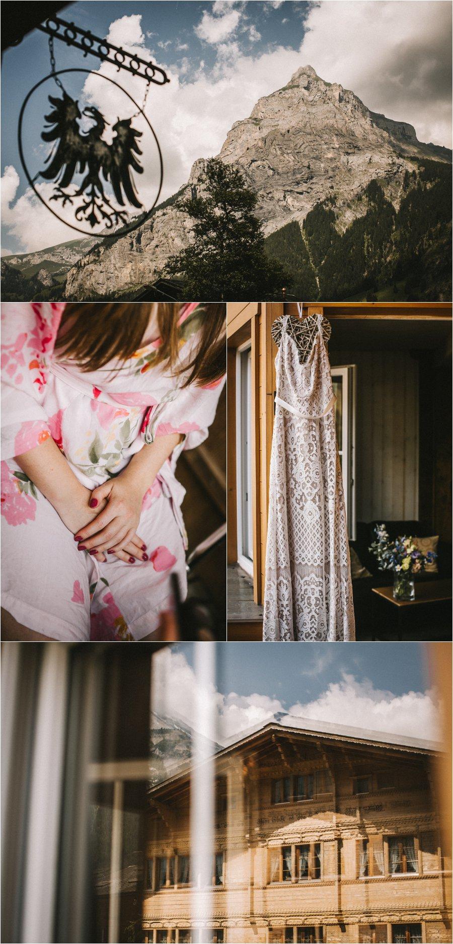 Swiss elopement bridal preparations by Bendik Photography