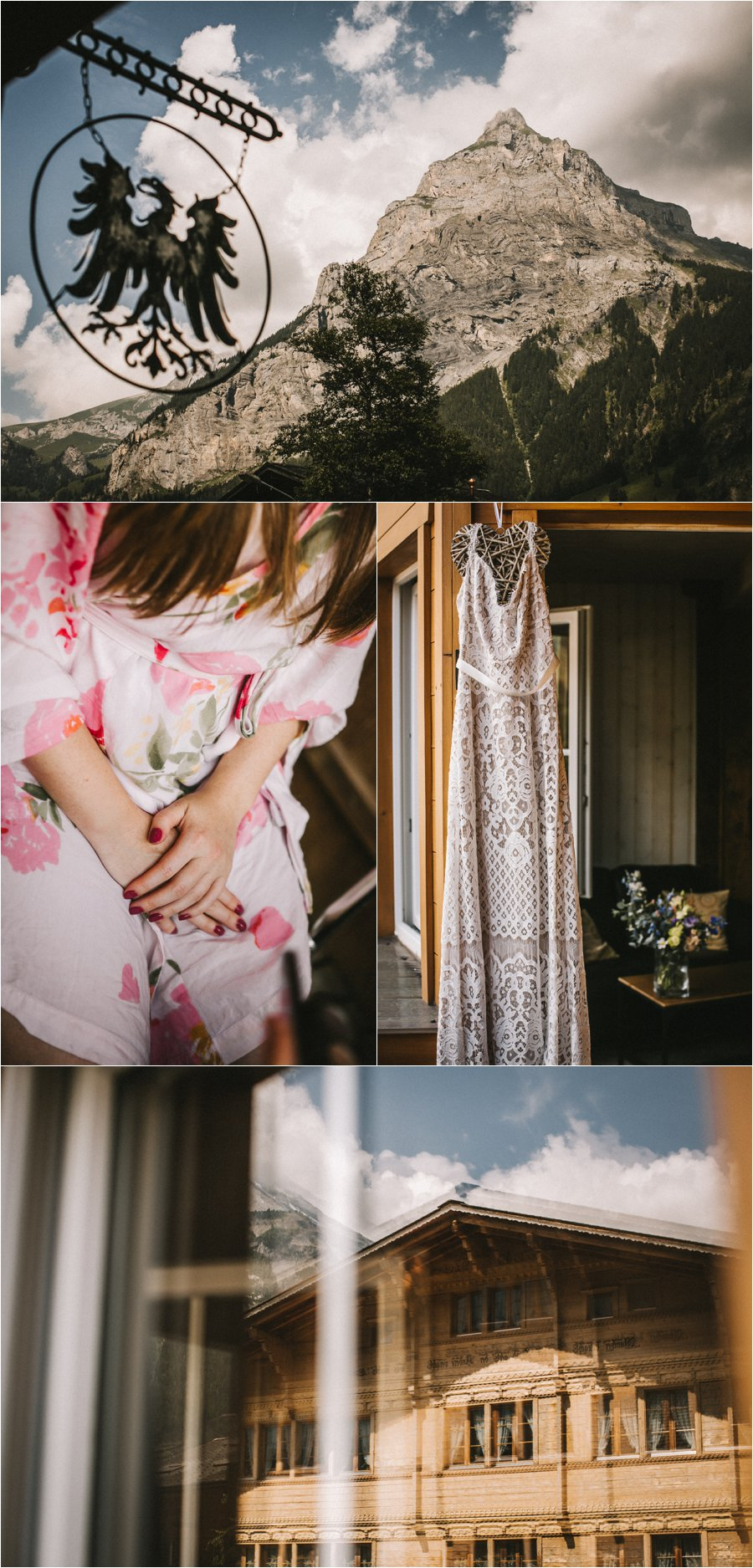 Swiss elopement bridal preparations by Bendik Photography