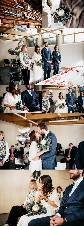 A civil wedding ceremony on the Zugspitz by Aneta Lehotska