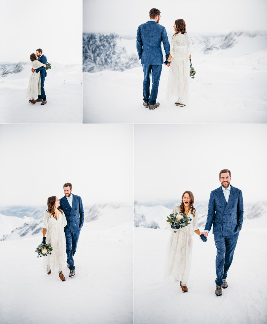 A winter wedding on Germany's highest mountain by Aneta Lehotska